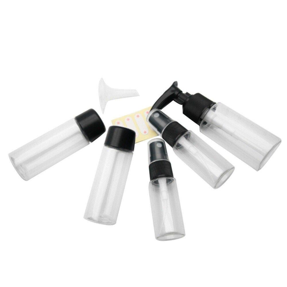 7pcs Refillable Bottles Empty Bottle Set Cosmetics Portable Travel Makeup Cream Pressed Perfume Kit