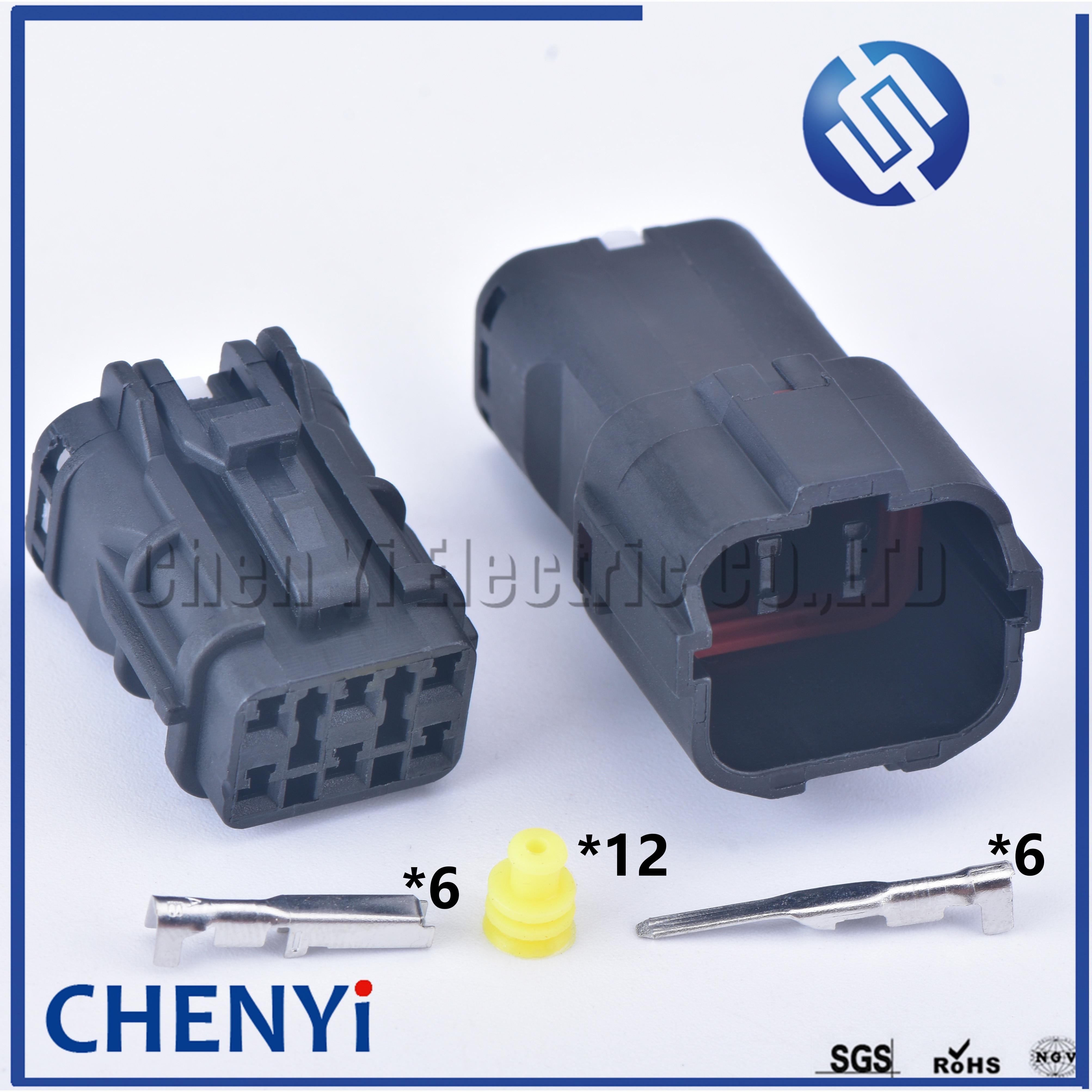 2 conjuntos preto 6 pinos ket fêmea masculino mg640337 mg610335 automotivo impermeável ecu fio elétrico conector plug 7222-7484-40