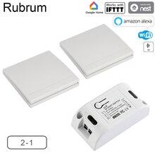 Rubrum RF 433 110V 220V Empfänger Smart Home Wifi Drahtlose Fernbedienung Smart smart Leben/Tuya APP funktioniert mit Alexa Google Hause