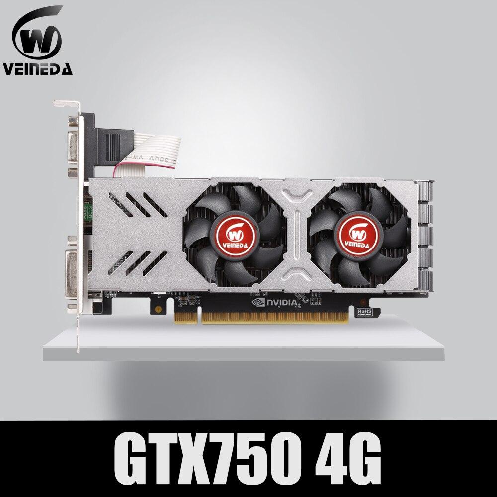 Veineda Graphics Card GTX 750 4GB 128Bit 5012mhz GDDR5 video card for nVIDIA VGA Cards stronger than