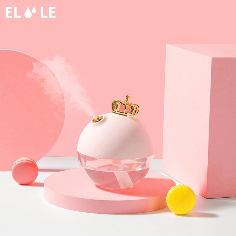 ELOOLE USB Crown Air Luftbefeuchter Für Zu Hause Mit Batterie Ultraschall Aromatherapie Diffusor Aroma Air Mist Maker Für Auto Büro