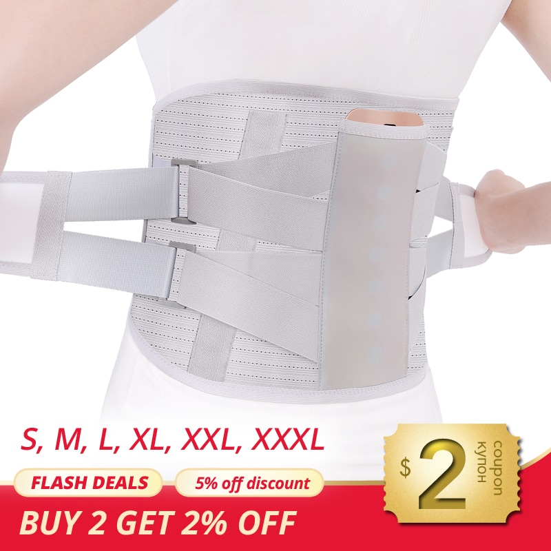 MARESE Lumbar Support Belt Disc Herniation Orthopedic Medical Strain Pain Relief Corset For Back Spi