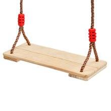 150Kg balançoire en bois siège suspendu chaise balançoire chaise avec corde réglable jouet balançoire pour enfants adultes jeux de jardin en plein air