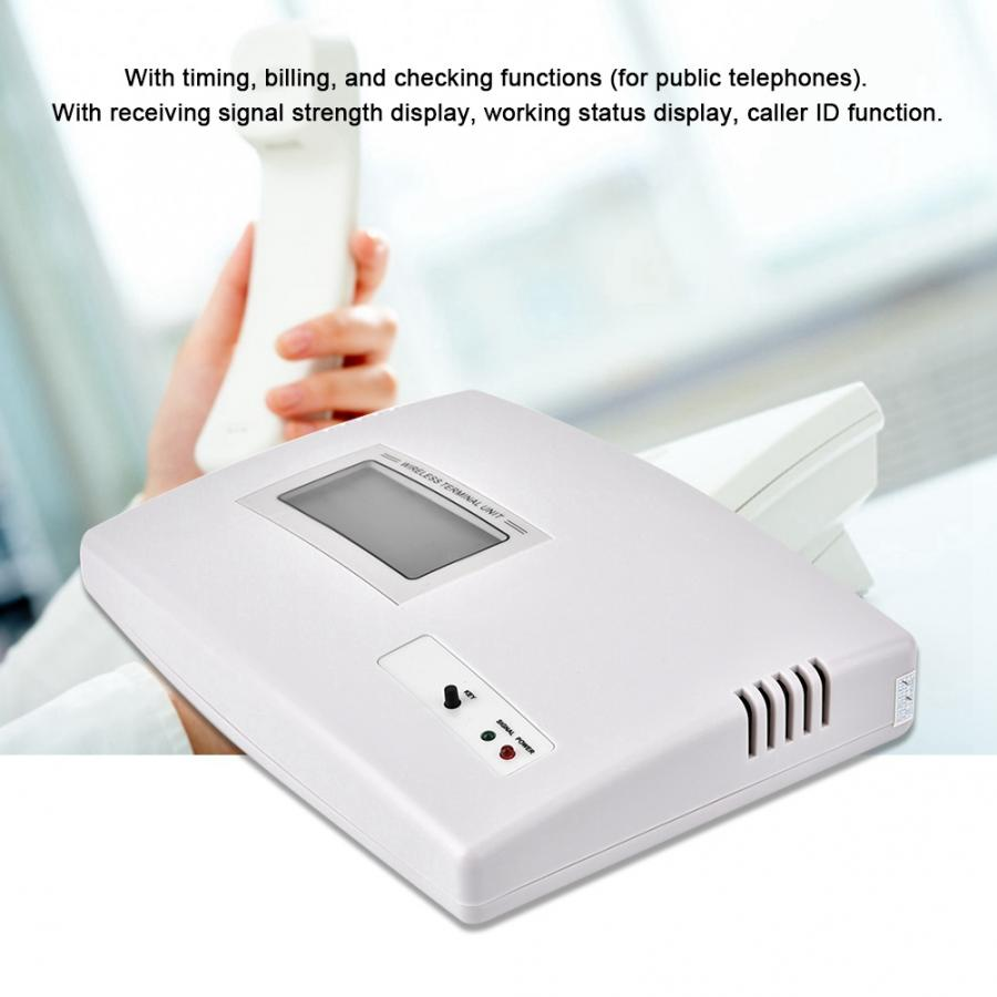 100-240V GSM Desktop Phone Fixed Wireless Terminal Support Alarm System Check Timing Working Status Signal enlarge