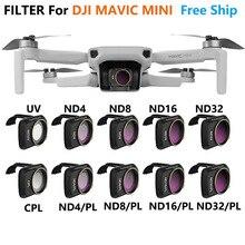 Filtre dobjectif de caméra MCUV ND4 ND8 ND16 ND32 CPL ND/PL Kit de filtres pour accessoires de Mini Drone DJI Mavic
