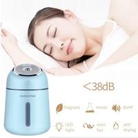 4 en 1 330ML Diffuseur Dair A Ultrasons USB Humidificateur Diffuseur Dhuile Essentielle Darome pour La Maison avec LUMIERE LED Et ventilateur