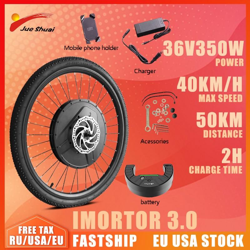 Front Wheel Imotor 3.0 Motor Kit 24''26''28''29'' 700c Electric Bicycle Conversion Kit Application Ebike Black Electric bike