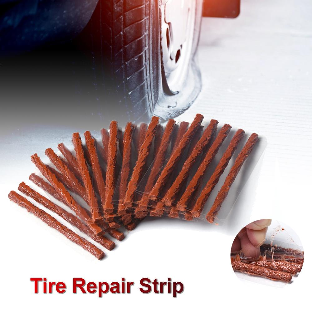 AliExpress - 50/100PCS Car Tire Repair Strip Plug Tubeless Tire Seal Patch For Tyre Maintenance Wheels Puncture Plug Seal Dropshipping CSV