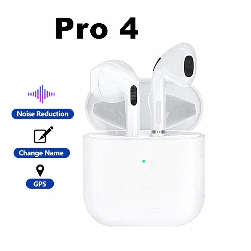 TWS Pro 4 Bluetooth Earphones Wireless Headphones HiFi Music Mini Earbuds Sports Gaming Headset PK i12 i9000 For Smart Phone new x12 tws bluetooth headphones earbuds hifi sport wireless earphones noise reduction in ear headset for i9000 i12 pro i7s i9s