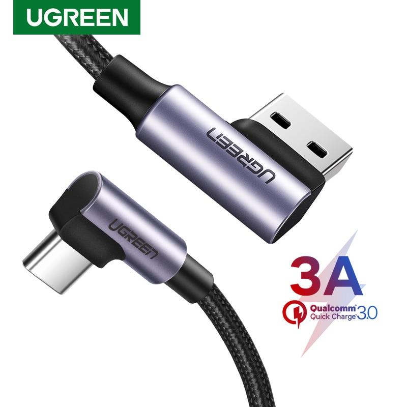 Ugreen-Cable USB tipo C para teléfono móvil, Cable de carga rápida 3A,...