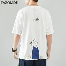 ZAZOMDE 8XL Hip Hop T เสื้อผู้ชายญี่ปุ่นเสื้อยืด Streetwear Harajuku สั้นแขนขนาดใหญ่ฤดูร้อนญี่ปุ่น Tshirts