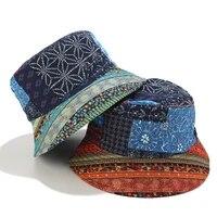 new casquette 2020 fashion summer sun national style geometric bucket hats fisherman caps gorras mens zz 479