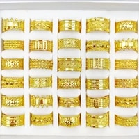 25pcslot trendy ring for women crown design vintage gold carved luxury rings banquet wedding jewelry
