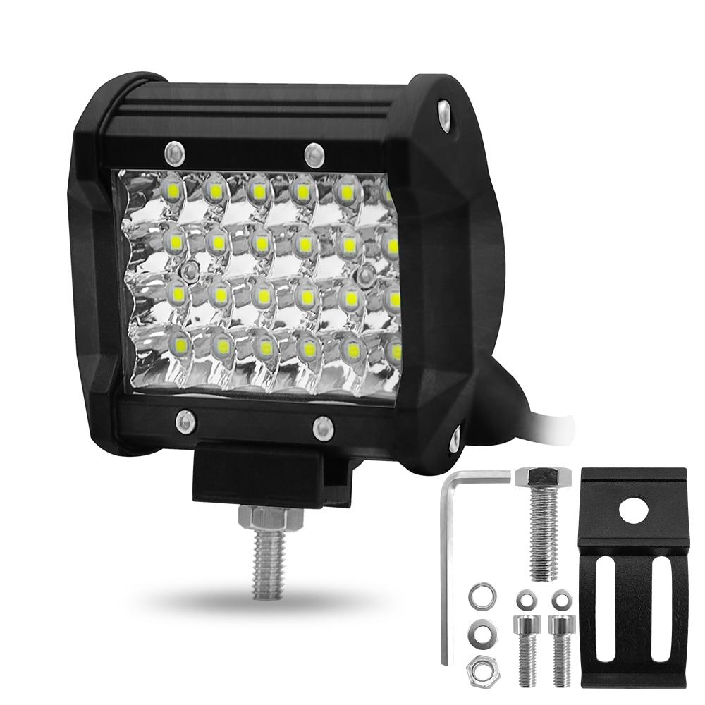 1PC Car Lights Work Light Led Bar Offroad 4x4 Accessories Motorcycle Fog Lamp 72W 6000K 12V