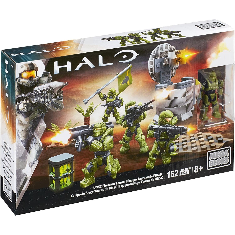 MEGABLOKS-MEGABLOKS Halo UNSC Fireteam Taurus Warriors -152 Uds./pzs -8 años, juguetes Festiva...