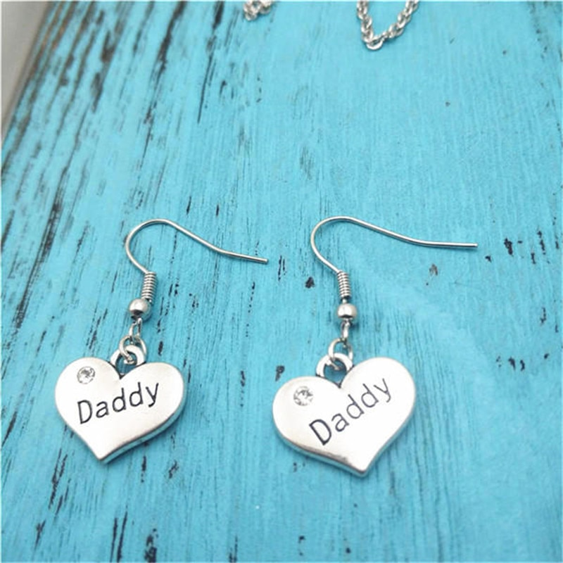 Daddy Family Creative Charm Earrings,Vintage Fashion Jewelry Women Christmas Birthday Gifts Accessor