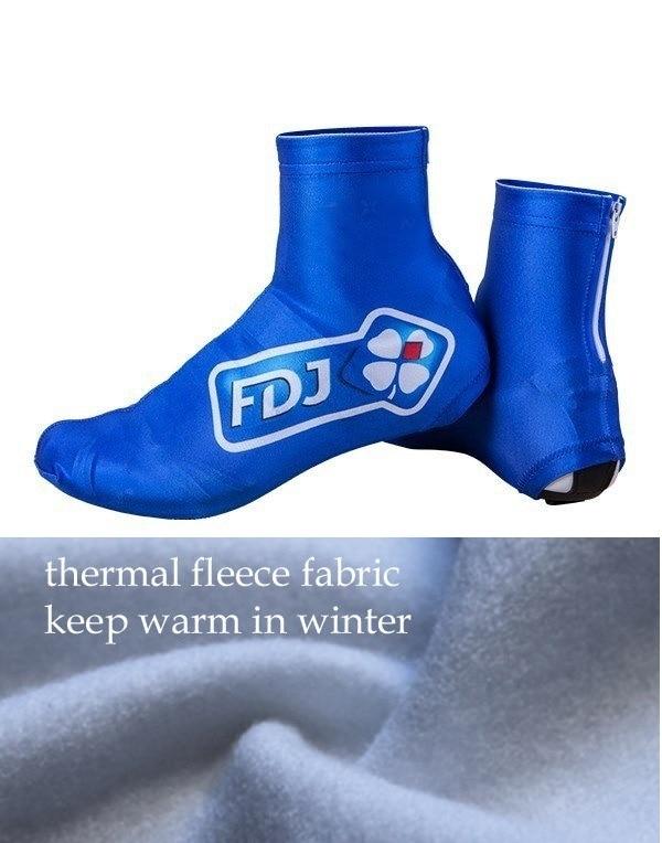 Invierno Polar térmico 2020 grupama FDJ PRO equipo azul ciclismo zapatos cubierta MTB bicicleta de carretera bicicleta cubiertas de calzado accesorios deportivos