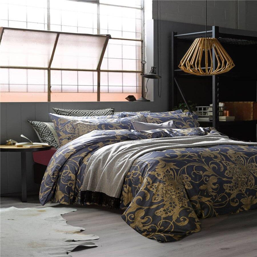 60s luxury egyptian cotton flower Bedding set duvet cover bed sheet pillow case king queen size bed linen set