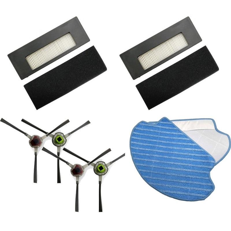 Peças de reposição mop pano rolo escova lateral filtro hepa escovas principais para ecovacs deebot de55 de6g robô aspirador pó
