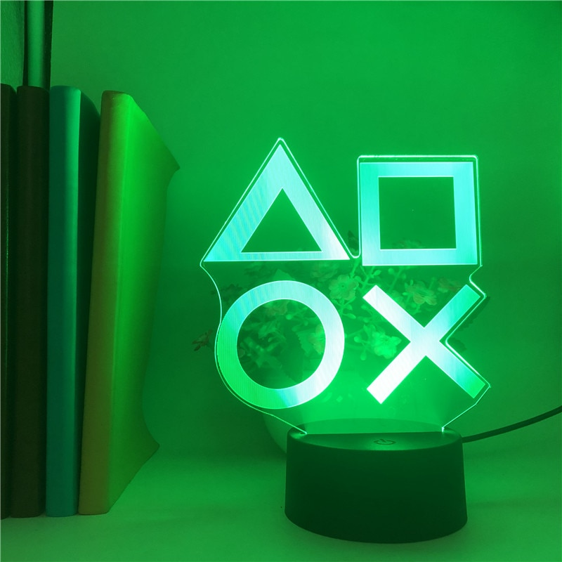 Voice Control Game Icon Light PS4 Mood Flash Lamp Acrylic Atmosphere Neon Light Sign Commercial Lighting Club Wall Decoration enlarge