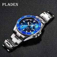 PLADEN Top Brands Men's Watches Relojes Luminous Stainless Steel Watch Waterproof Luxury Brand Young