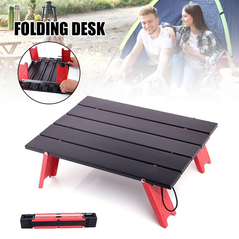 Foldable Aluminum Alloy Lightweight Camping Table Camping Picnic Small Outdoor Table For Outdoors Equipment Outdoor Furniture