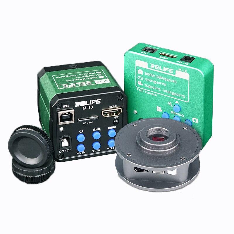 Microscopio Ultra HD Cámara HDMI Trinocular microscopio USB3800W/4800 W píxeles cámara Industrial