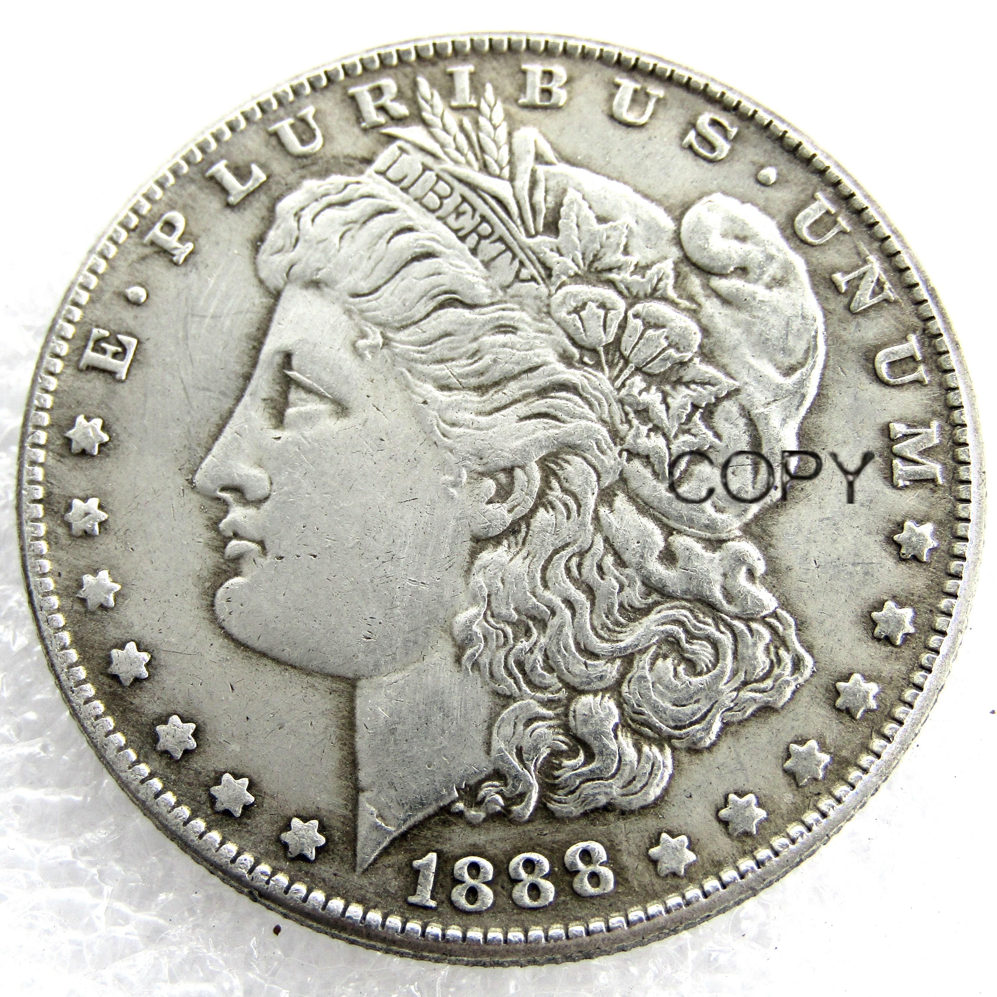 US Coins 1888 P/S/O Morgan Dollar copy Coins Silver Plated