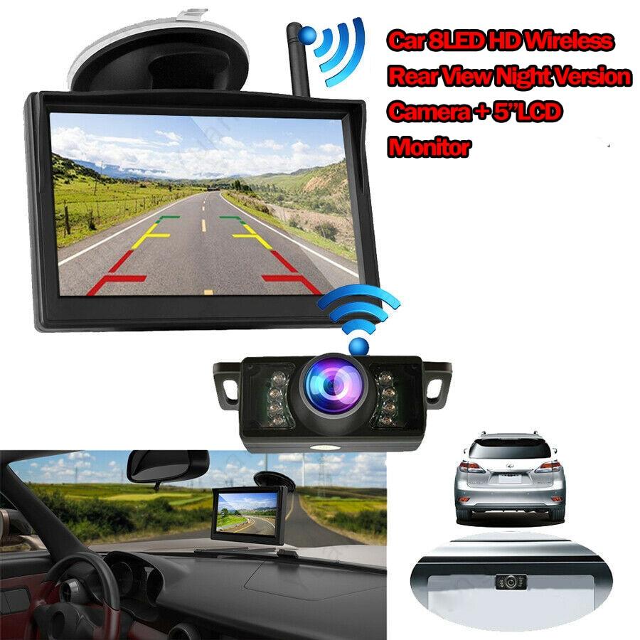 170° Wireless Car Rear View Reverse Backup HD Night Vision Camera Parking Camera +5