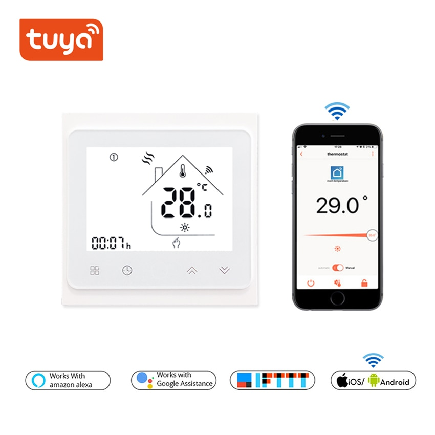 Temperature Controller for Water/Electric floor Heating Water/Gas Boiler Tuya APP Remote Control /WiFi Smart Touch Thermostat smart wifi tuya thermostat temperature controller gas boiler water heating electric heating thermoregulator floor controller