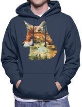 Woodland Forest and Wildlife Mens Hooded Sweatshirt Men Women Hoodie Sweatshirt