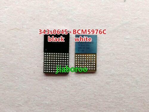1 par (2 piezas) blanco + negro digitalizador de pantalla táctil control ic para IPHONE 5C 5S U15 343S0645 + U12 BCM5976C