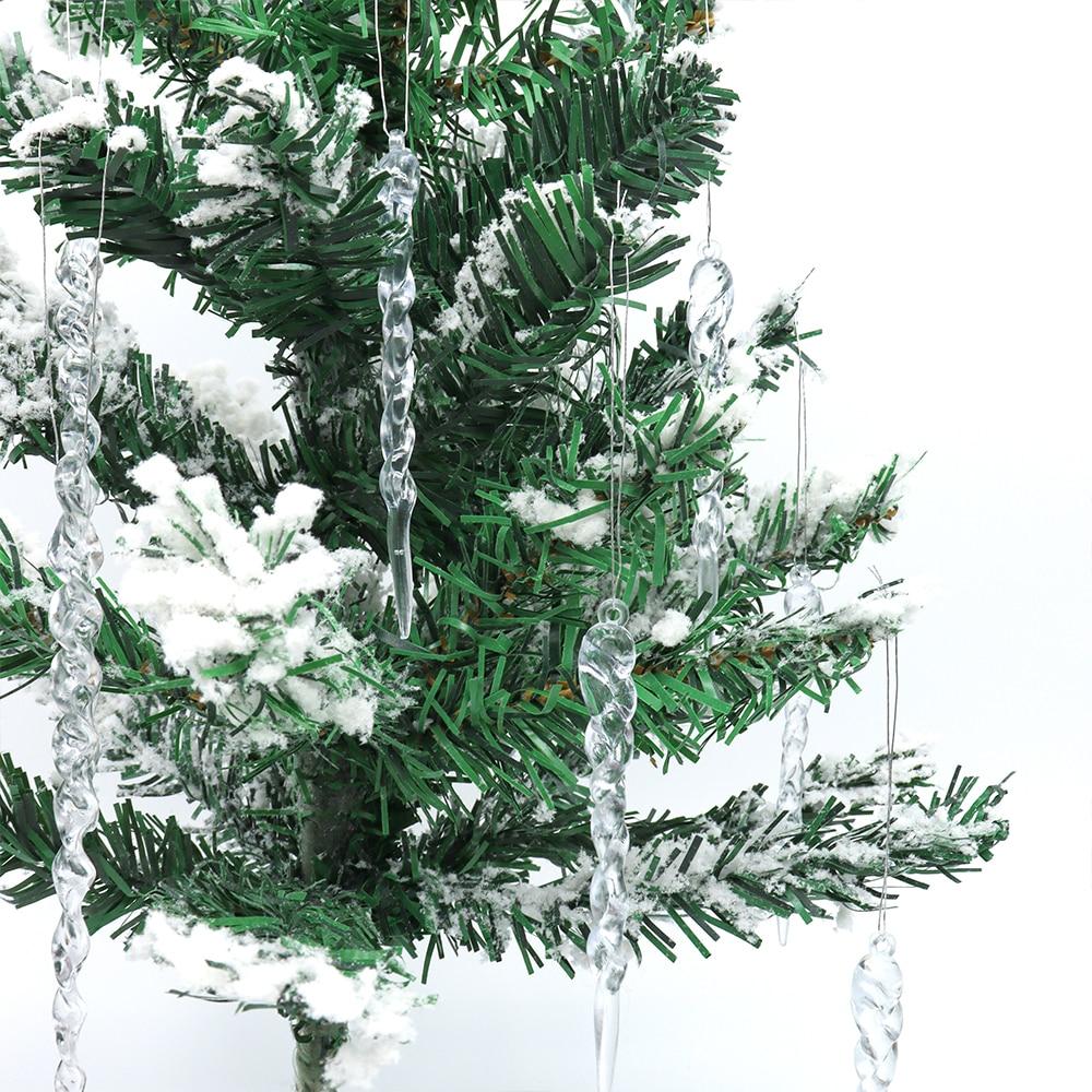 1 Набор рождественских подвесок для рождественской елки, искусственные сосульки, зимние украшения для рождественской и новогодней вечерин...
