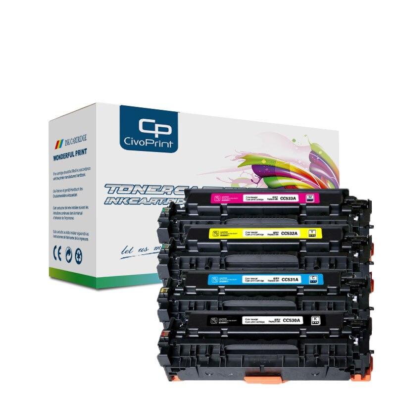 Civoprint متوافق HP 304A CC530A كانون CRG118 ل CP2025DN CM2320N CM2320NF MFP MF8580CDW MF8350CDN MF8380CDW LBP7660CDN