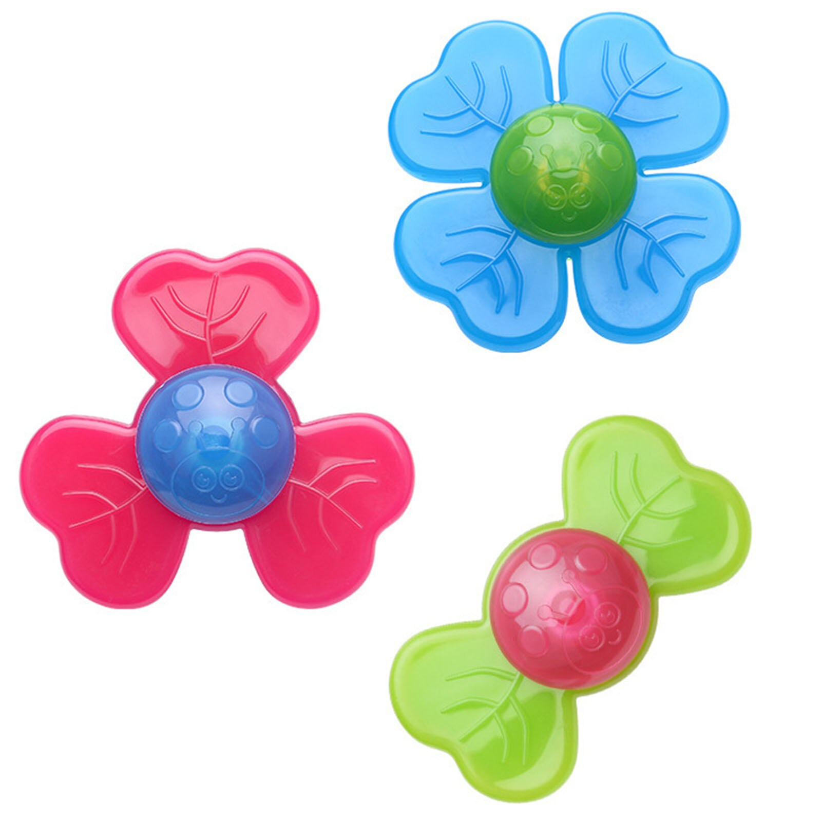 3PCS/Set Baby Fingers Hand Spinners Flower Suction Cup Spinning Top Table Sucker Toys For Children Kids enlarge