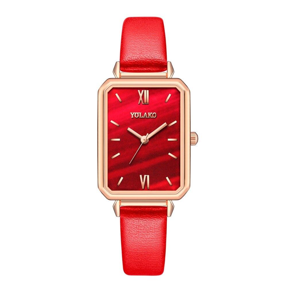 Recém Chegados Tempo-limitado Relógio Ultra-fino Quadrados Commuter Temperamento Compacto Moda Senhora Wristatch Marés Tabela Frete Grátis