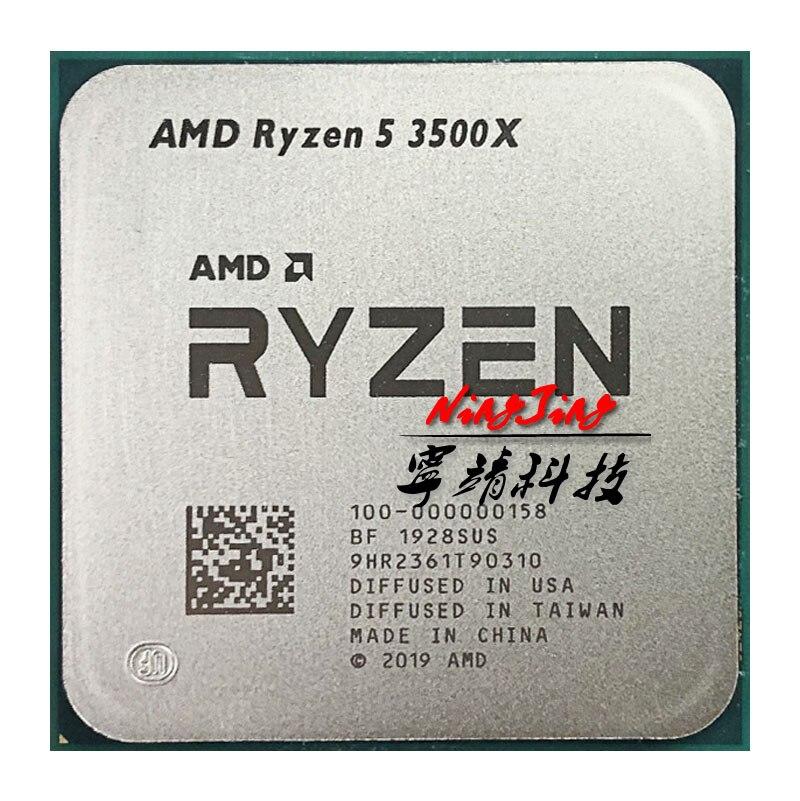 Procesador de CPU de seis hilos AMD Ryzen 5 3500X R5 3500X 3,6 GHz, 7NM 65W L3 = 32M 100-000000158 Socket AM4