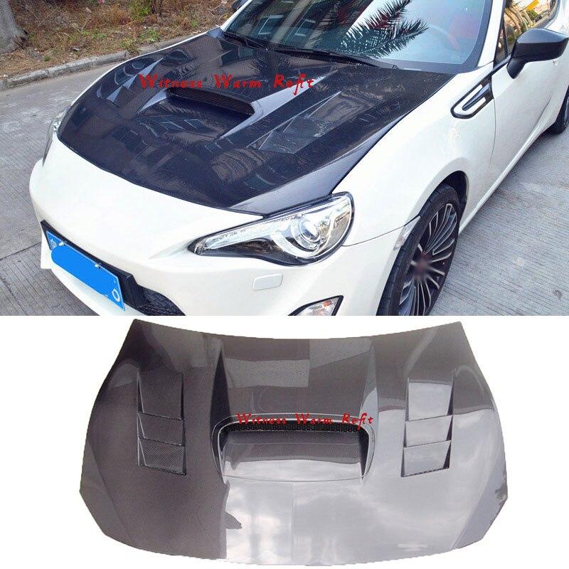 Cubierta para motor de fibra de carbono de alta calidad para Toyota GT86 Bonnets 2013 14 15 16 17