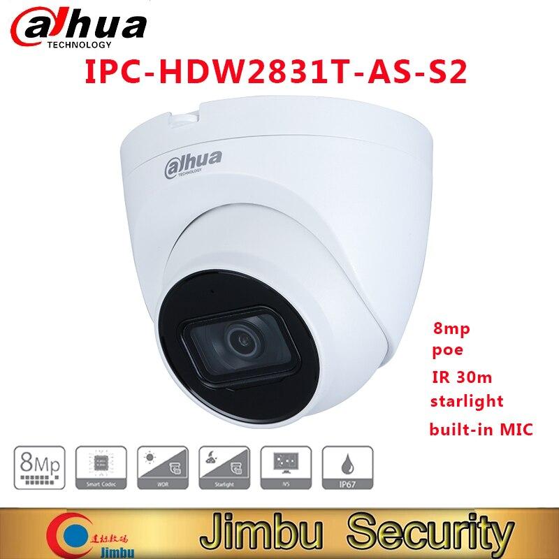 Dahua-cámara de seguridad para el hogar, dispositivo de IPC-HDW2831T-AS-S2 de 8MP Lite...