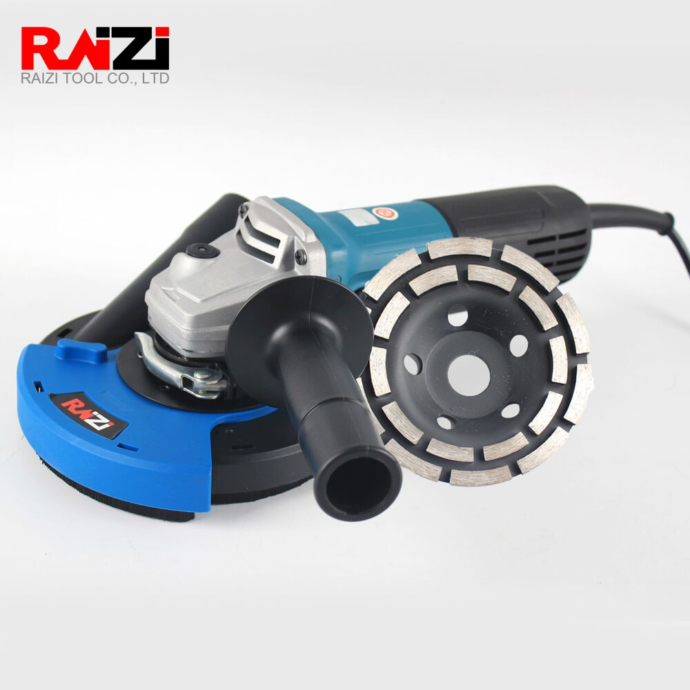 Raizi 4.5/5/7 Inch Angle Grinder Dust Shroud Cover Tool Kit With Grinding Disc Diamond Cup Wheel For Concrete enlarge