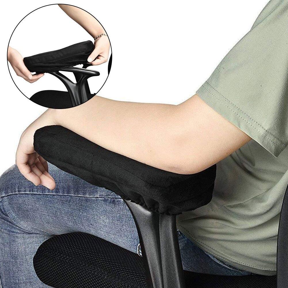 Cojín para el hogar y la Oficina, cojín suave para el reposabrazos de la silla, soporte ergonómico para aliviar la presión de los antebrazos, fundas universales de espuma para el codo