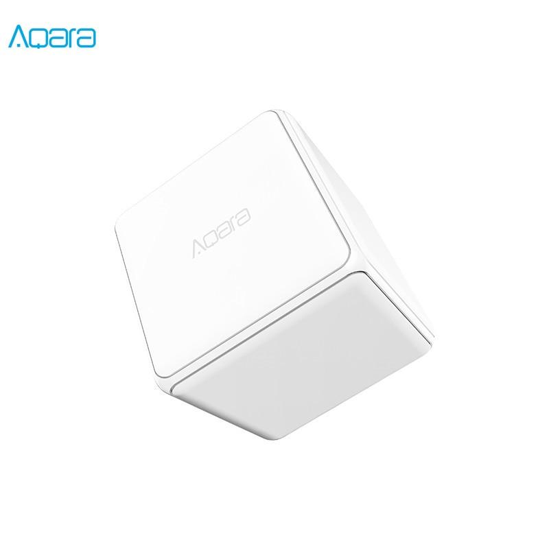 Controlador de cubo Original Aqara versión Zigbee controlado por seis acciones con aplicación de teléfono para Dispositivo inteligente de hogar TV enchufe inteligente