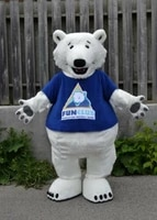 halloween polar bear mascot costume suits cosplay party game dress outfits adult