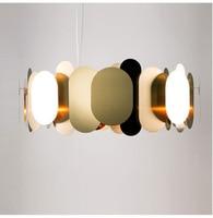 Modern Gold Luxury Creative Circular Pendant Light Stainless Steel Lamp Dining Room Home Bedroom Restaurant American