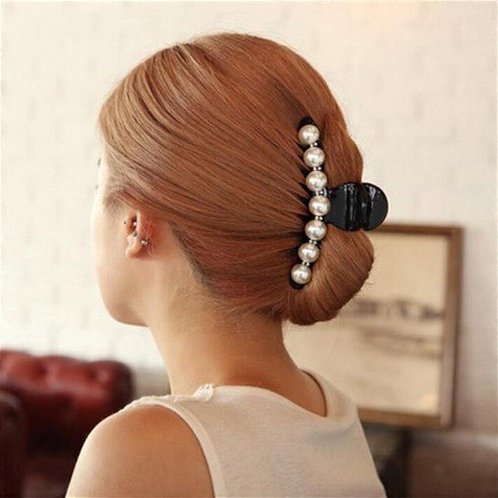 Horquillas negras con diamantes de imitación grandes para mujer, pinzas para el pelo, pinzas para el pelo estilo cangrejo para pasadores para niñas, accesorios de broches para el cabello