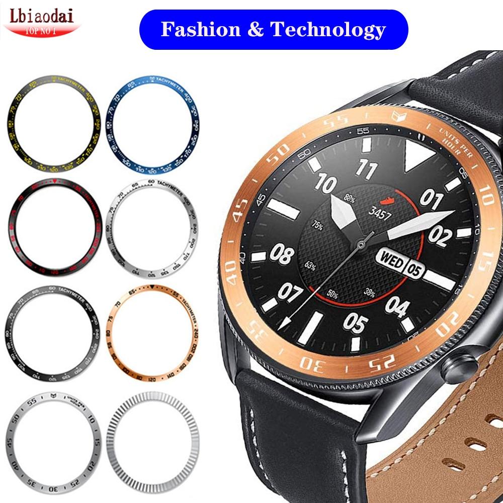 Anillo de bisel para Samsung Galaxy Watch 3, 45mm, 41mm/46mm/42mm/Gear S3 Frontier,...