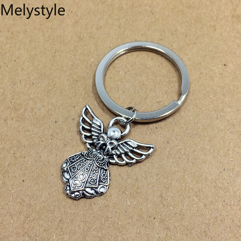 2019 Angel-shape Key Ring Vintage New Fashion Metal Key Chain Party Gift Dropshipping Jewellery