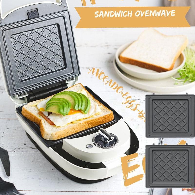 Máquina de wafles multifunción de 220V, Sandwichera con burbujas, Waffle, tostadora de...