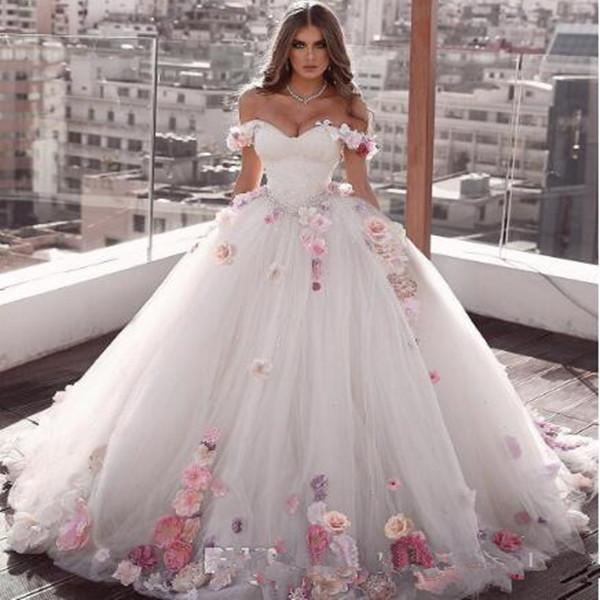 Flower Off Shoulder White Quinceanera Dresses Ball Gown Sweet 16 Year Princess Dresses For 15 Years vestidos de 15 años anos свитшот sweet years sweet years sw012emglfs7