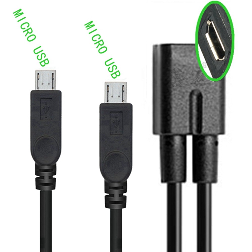 ZU 1 Uds Micro USB 2,0 divisor Y 1 Buchse auf 2...